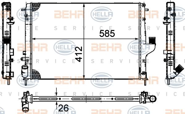 Radiateur de refroidissement HELLA 8MK 376 787-651 (X1)