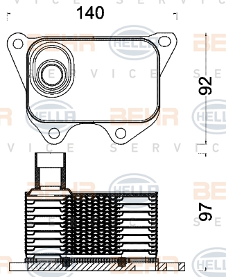 Radiateur huile HELLA 8MO 376 797-011 (X1)