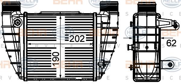 Intercooler radiateur de turbo HELLA 8ML 376 899-051 (X1)