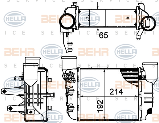 Intercooler radiateur de turbo HELLA 8ML 376 899-061 (X1)