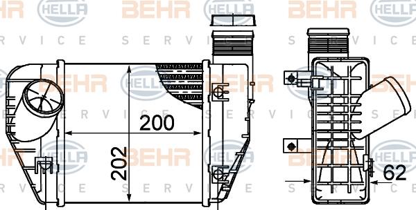 Intercooler radiateur de turbo HELLA 8ML 376 899-071 (X1)