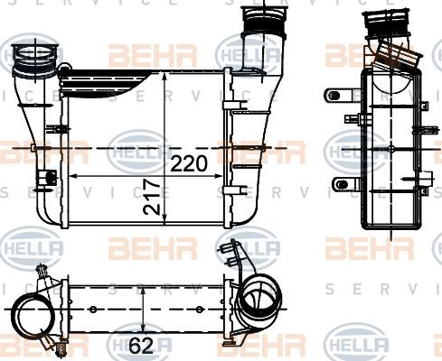 Intercooler radiateur de turbo HELLA 8ML 376 899-121 (X1)