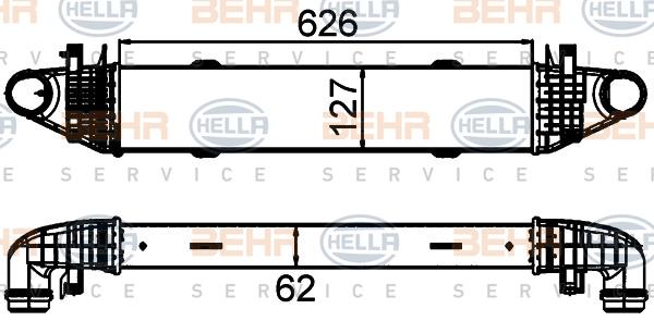 Intercooler radiateur de turbo HELLA 8ML 376 899-191 (X1)