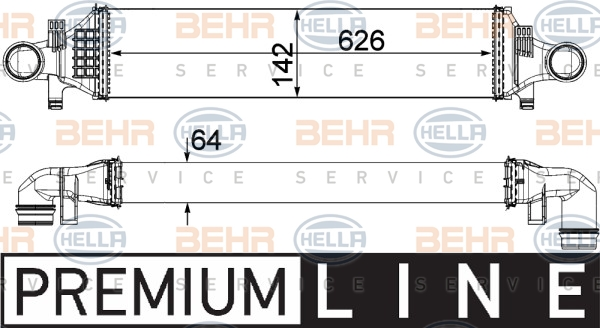 Intercooler radiateur de turbo HELLA 8ML 376 924-001 (X1)