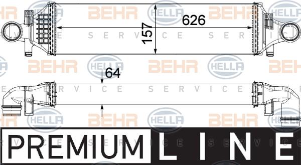 Intercooler radiateur de turbo HELLA 8ML 376 924-051 (X1)