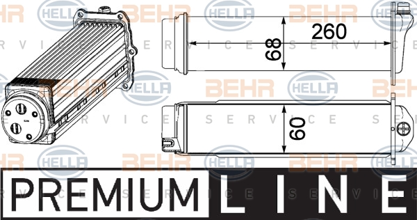 Intercooler radiateur de turbo HELLA 8ML 376 924-101 (X1)