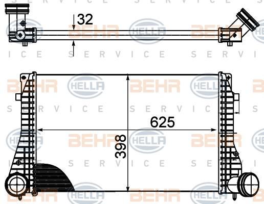 Intercooler radiateur de turbo HELLA 8ML 376 988-004 (X1)