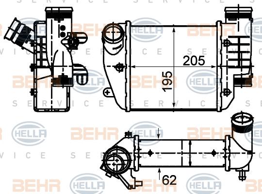 Intercooler radiateur de turbo HELLA 8ML 376 988-024 (X1)