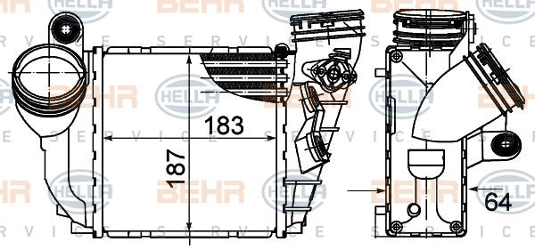 Intercooler radiateur de turbo HELLA 8ML 376 988-034 (X1)