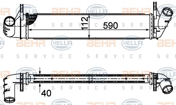 Intercooler radiateur de turbo HELLA 8ML 376 988-134 (X1)
