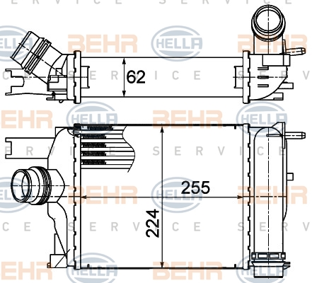 Intercooler radiateur de turbo HELLA 8ML 376 988-154 (X1)