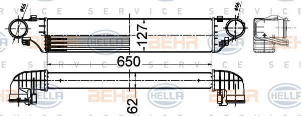 Intercooler radiateur de turbo HELLA 8ML 376 988-294 (X1)