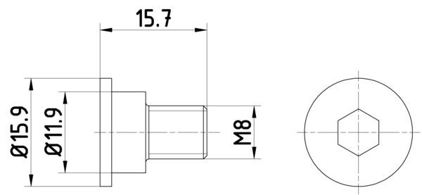 Vis disque de frein HELLA 8DZ 355 209-031 (Jeu de 2)