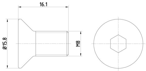Vis disque de frein HELLA 8DZ 355 209-061 (Jeu de 2)