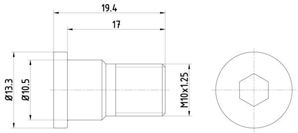 Vis disque de frein HELLA 8DZ 355 209-071 (Jeu de 2)