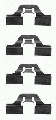 Kit de montage plaquettes de frein HELLA 8DZ 355 202-621 (X1)