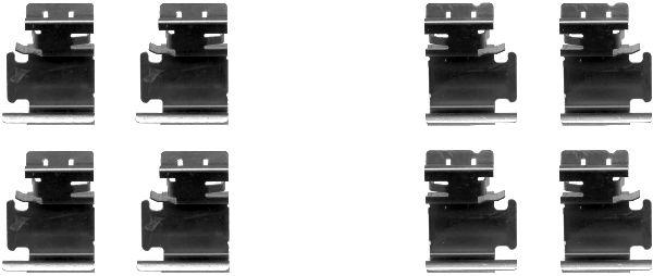 Kit de montage plaquettes de frein HELLA 8DZ 355 203-061 (X1)
