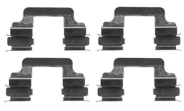 Kit de montage plaquettes de frein HELLA 8DZ 355 203-081 (X1)