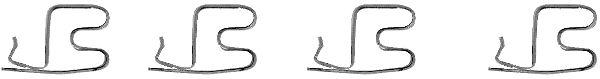Kit de montage plaquettes de frein HELLA 8DZ 355 202-671 (X1)