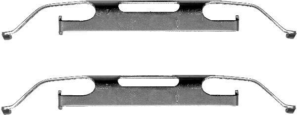 Etrier de frein HELLA 8DZ 355 201-291 (X1)