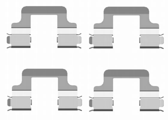 Kit de montage plaquettes de frein HELLA 8DZ 355 204-101 (X1)