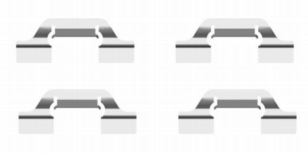 Kit de montage plaquettes de frein HELLA 8DZ 355 204-111 (X1)