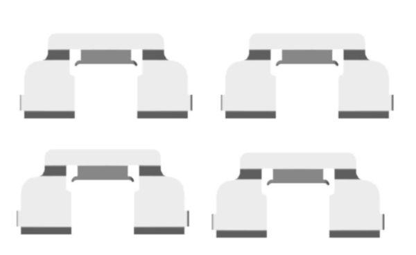 Kit de montage plaquettes de frein HELLA 8DZ 355 203-801 (X1)