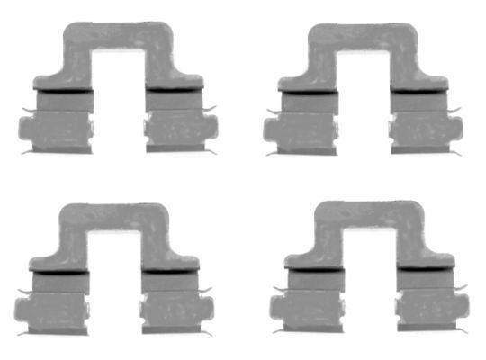 Kit de montage plaquettes de frein HELLA 8DZ 355 203-551 (X1)