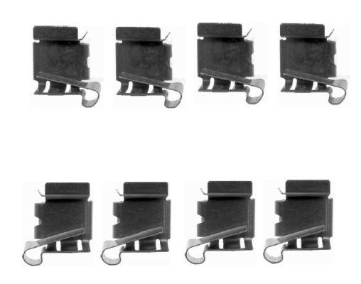 Kit de montage plaquettes de frein HELLA 8DZ 355 203-871 (X1)
