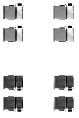 Kit de montage plaquettes de frein HELLA 8DZ 355 204-421 (X1)