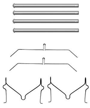 Kit de montage plaquettes de frein HELLA 8DZ 355 204-551 (X1)