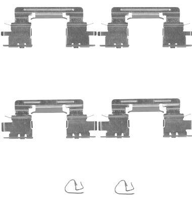 Kit de montage plaquettes de frein HELLA 8DZ 355 204-911 (X1)
