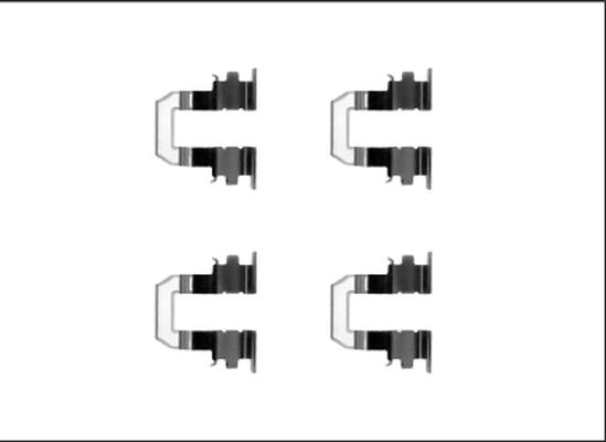 Kit de montage plaquettes de frein HELLA 8DZ 355 205-551 (X1)