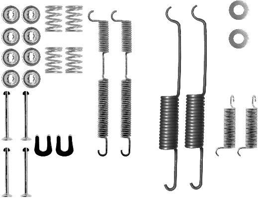 Kit de montage machoires de frein HELLA 8DZ 355 206-111 (X1)