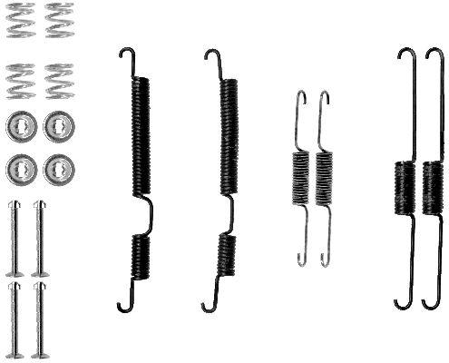 Kit de montage machoires de frein HELLA 8DZ 355 201-091 (X1)