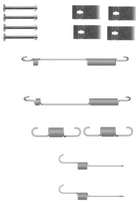 Kit de montage machoires de frein HELLA 8DZ 355 200-941 (X1)