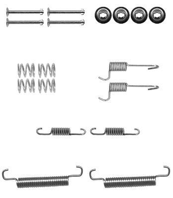 Kit de montage machoires de frein HELLA 8DZ 355 201-041 (X1)