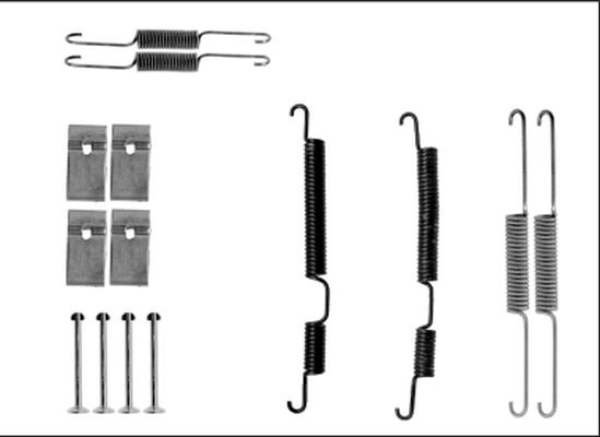 Kit de montage machoires de frein HELLA 8DZ 355 205-861 (X1)