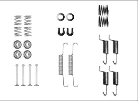 Kit d'accessoires mâchoires de frein de stationnement HELLA 8DZ 355 205-941 (X1)