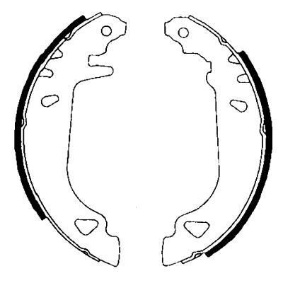 kit de frein arrière simple ou prémonté HELLA 8DB 355 001-011 (X1)