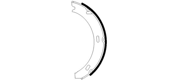 Jeu de mâchoires de frein de frein à main HELLA 8DA 355 050-551 (X1)