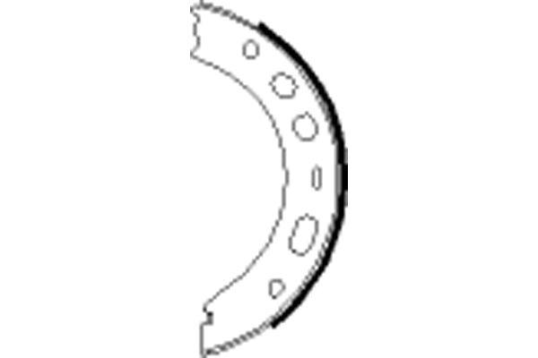 Jeu de mâchoires de frein de frein à main HELLA 8DA 355 050-661 (X1)