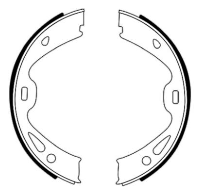 Jeu de mâchoires de frein de frein à main HELLA 8DA 355 051-291 (Jeu de 4)