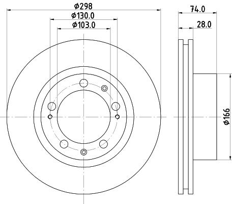Disque de frein avant HELLA 8DD 355 102-311 (Jeu de 2)
