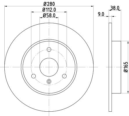Disque de frein avant HELLA 8DD 355 106-601 (Jeu de 2)