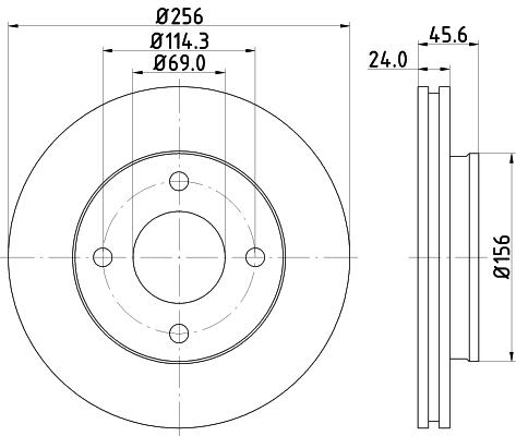 Disque de frein avant HELLA 8DD 355 111-511 (Jeu de 2)