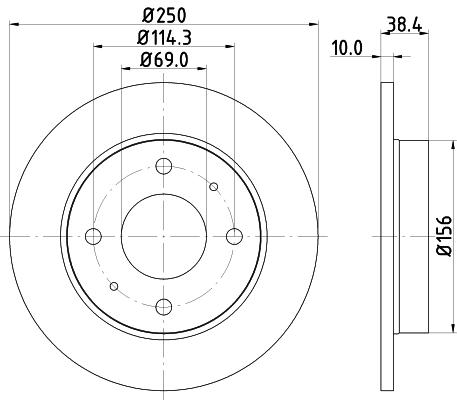 Disque de frein arriere HELLA 8DD 355 111-531 (Jeu de 2)