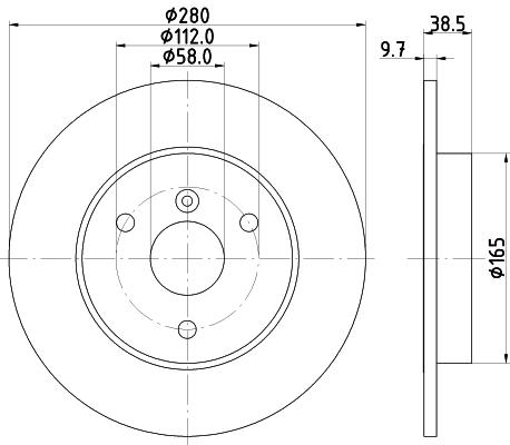 Disque de frein avant HELLA 8DD 355 113-561 (Jeu de 2)