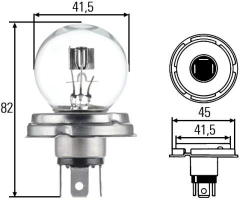 Ampoule, projecteur principal HELLA 8GD 002 088-071 (X1)