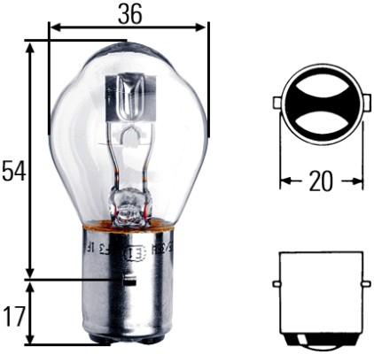 Ampoule, projecteur principal HELLA 8GD 008 897-121 (X1)